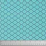 Lodge Lattice Aqua   True Colours