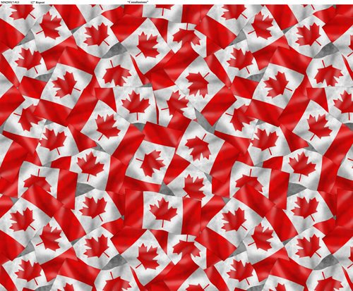 Canadianisms - Canada Flag on grey background