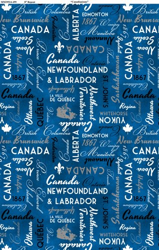 Canadianisms - Canada Words on Blue