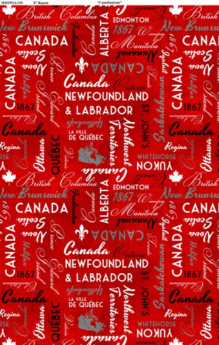 Canadianisms - Canada Words on Red