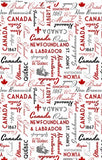 Canadianisms - Canada Words on White