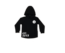Load image into Gallery viewer, A EST. 2018 Kids Long Sleeve Basic Hoody
