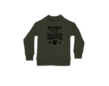 Load image into Gallery viewer, BORN TO ROCK Kids Crew Neck Jumper