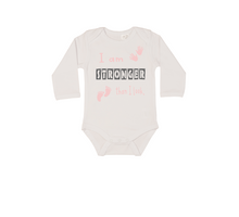 Load image into Gallery viewer, I AM STRONGER THAN I LOOK Baby Long Sleeve Bodysuit