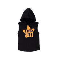 Load image into Gallery viewer, I DID IT! Kids Sleeveless Hoody