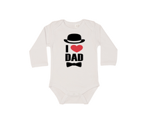 Load image into Gallery viewer, I LOVE DAD Baby Long Sleeve Bodysuit