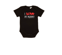 Load image into Gallery viewer, I LOVE MY MUMMY Baby Short Sleeve Bodysuit