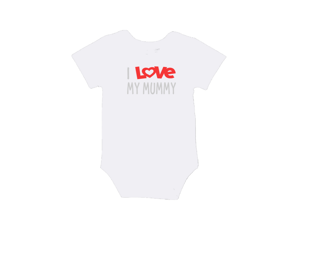 I LOVE MY MUMMY Baby Short Sleeve Bodysuit