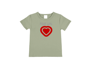 MADE WITH LOVE Kids Short Sleeve Basic Tee