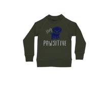 Load image into Gallery viewer, STAY PAWSITIVE Kids Crew Neck Jumper