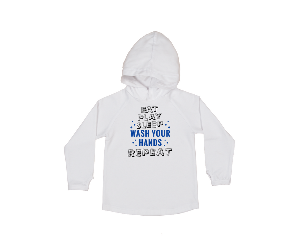 WASH YOUR HANDS Kids Long Sleeve Basic Hoody