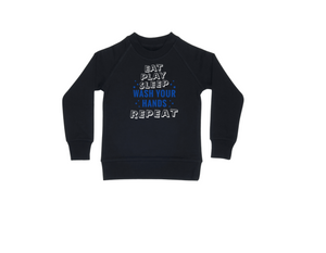 WASH YOUR HANDS Kids Crew Neck Jumper