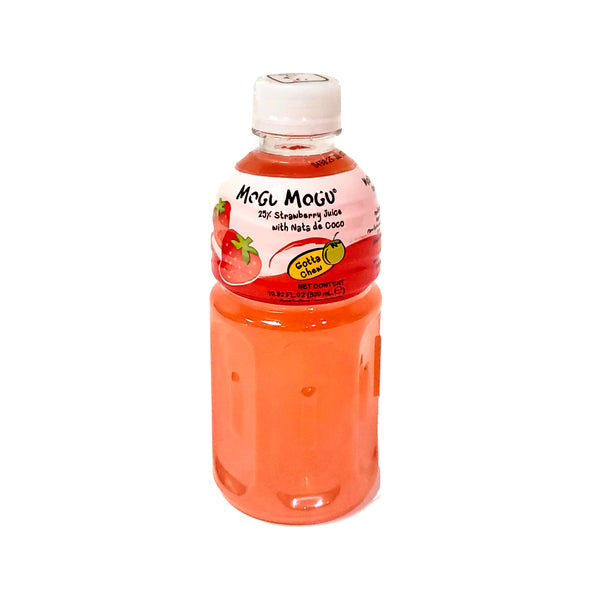 Mogu Mogu Strawberry Drink With Nata De Coco 320 Ml
