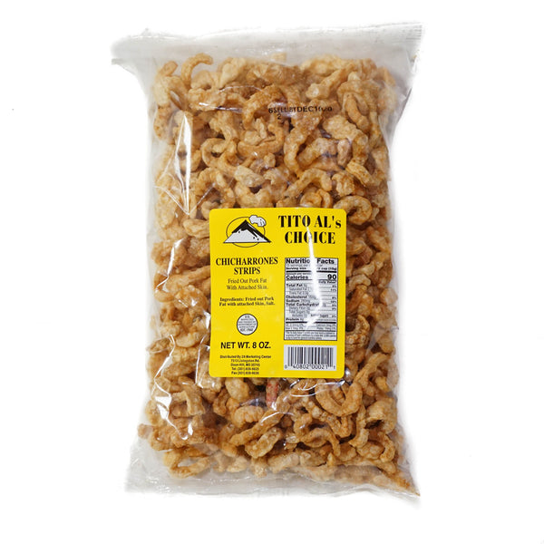Tito Al's Chicharrones Strips (Pork Cracklings) - 8 oz