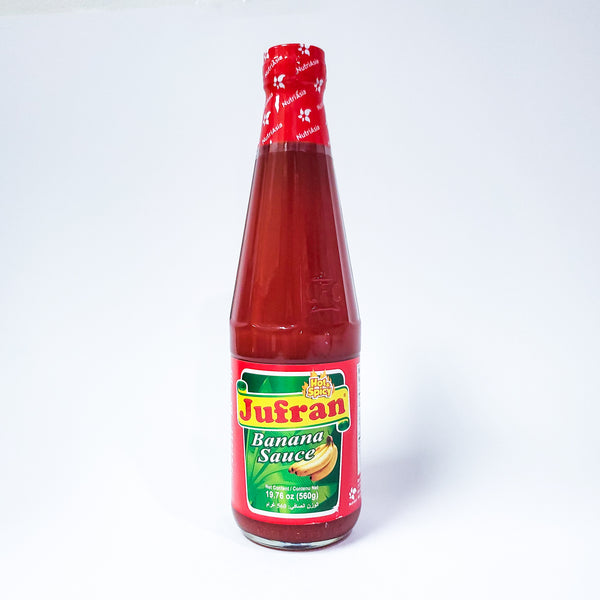 Jufran Banana Sauce Hot And Spicy Large Bottle