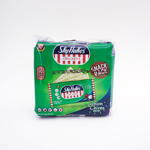 Sky Flakes Onion And Chives 10 Per Pack