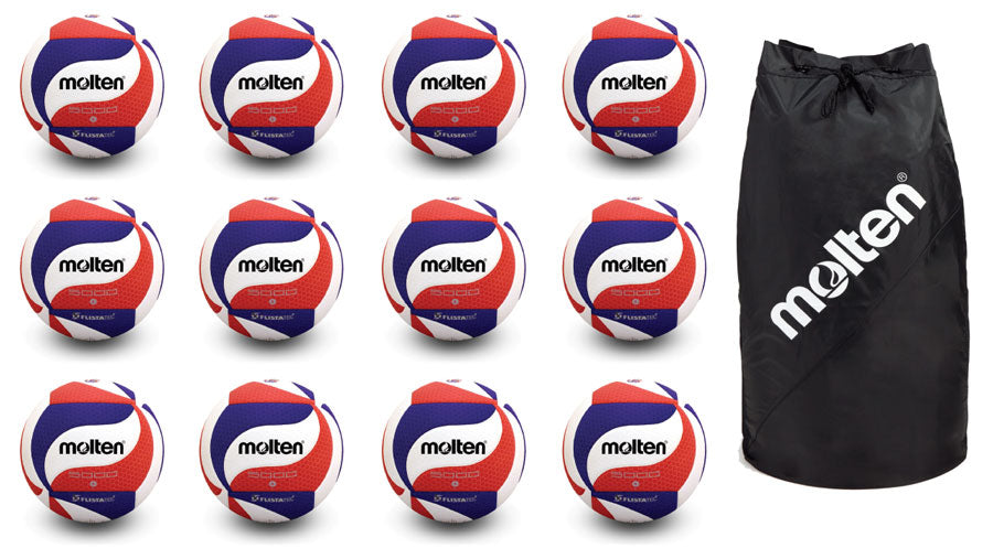 12 molten usav volleyballs with molten 12 ball bag