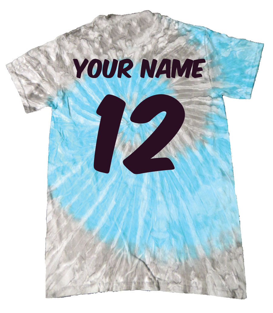 GIRLS RULE THIS Volleyball Tie-Dye Shirt