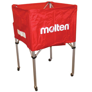 molten square volleyball cart red