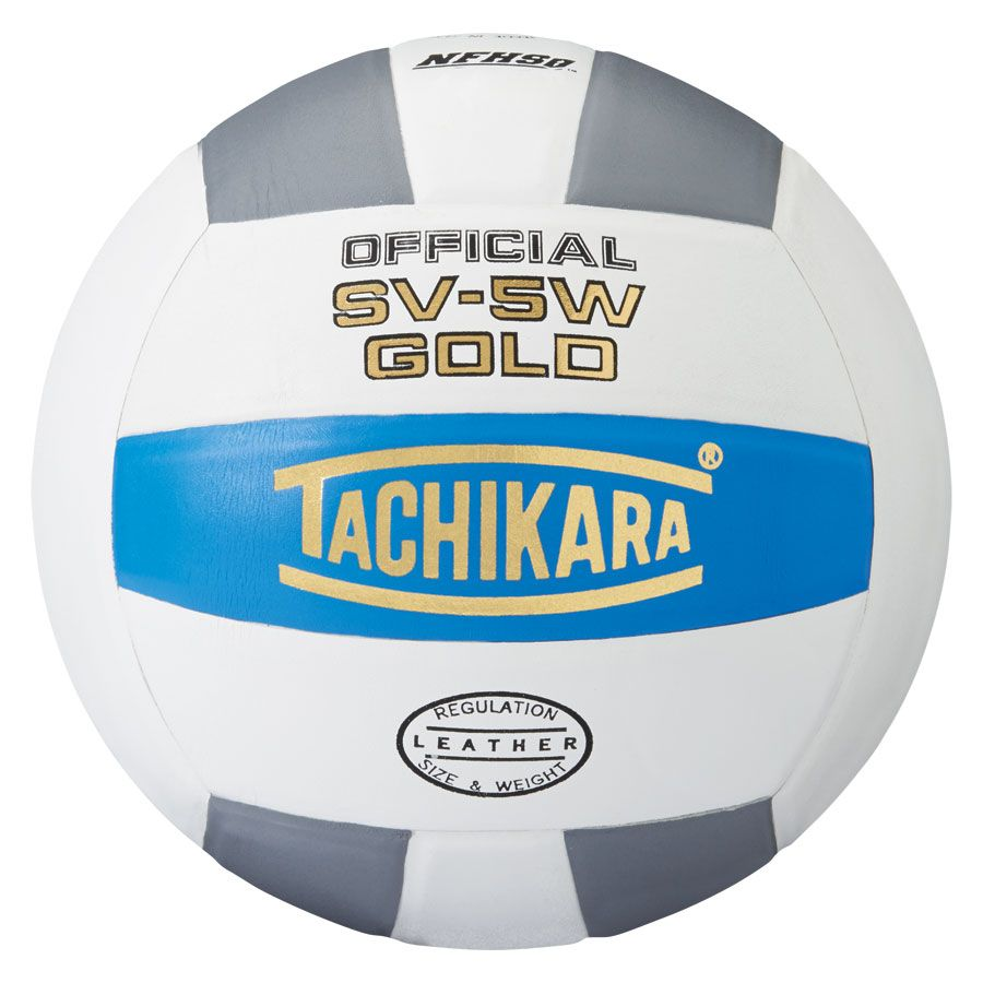 tachikara sv-5w gold volleyball college blue white silver