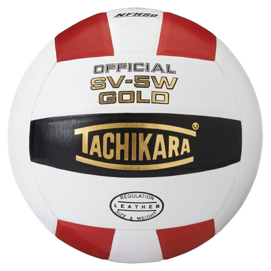 tachikara sv-5w gold volleyball scarlet white black