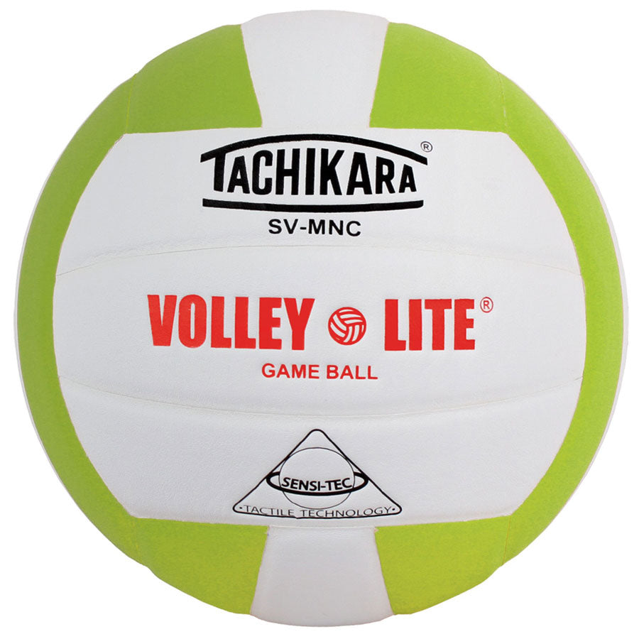 tachikara volley lite ball in lime green