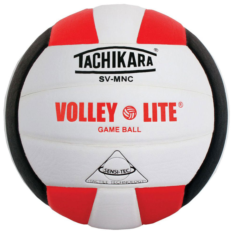 tachikara volley lite ball in red white black