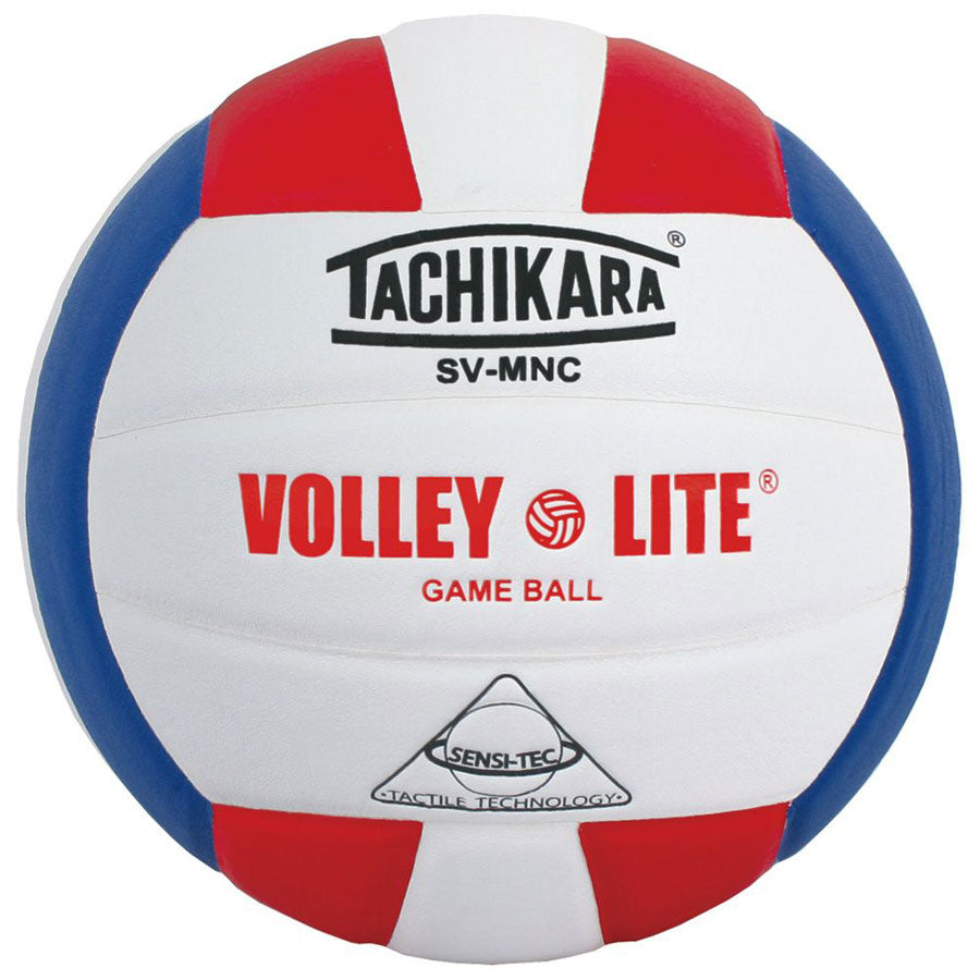 tachikara volley lite ball in red white blue