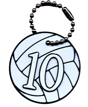 volleyball bag tag with player number