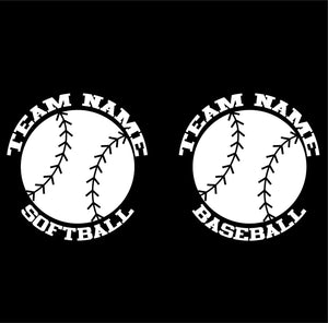 custom softball and baseball vinyl car window decals