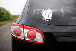 Custom Vinyl Stickers Baseball Softball