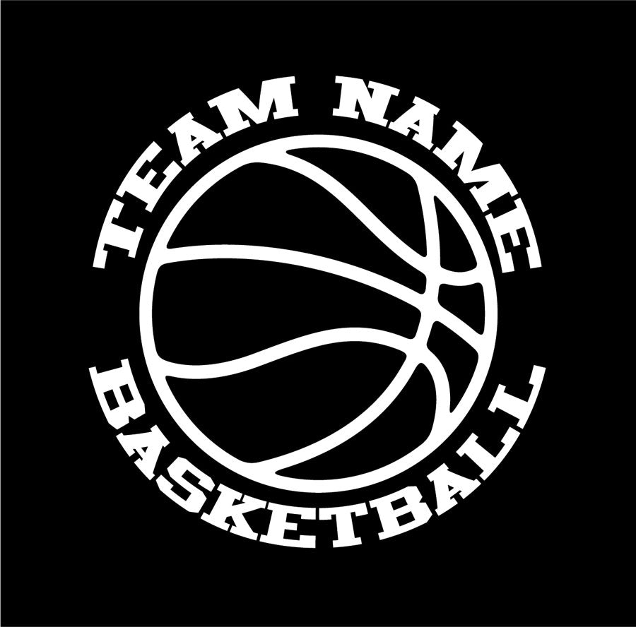 custom basketball vinyl car window decal