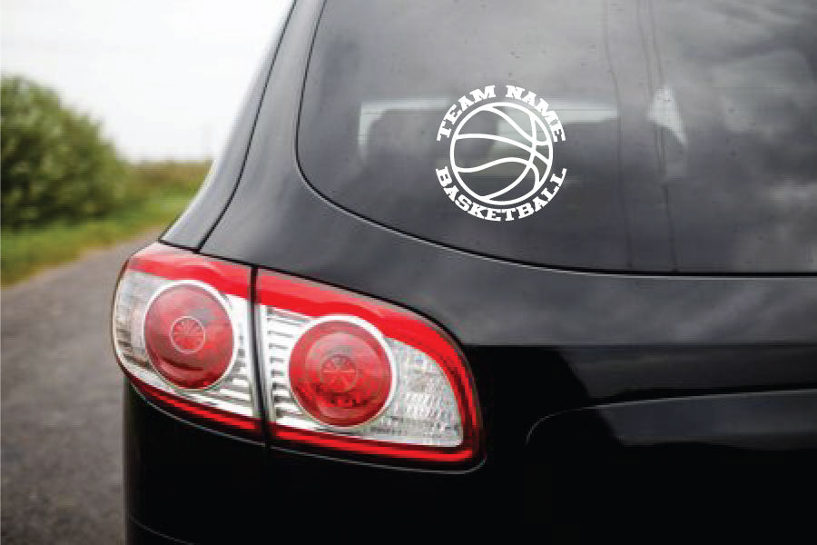Custom Vinyl Stickers BASKETBALL