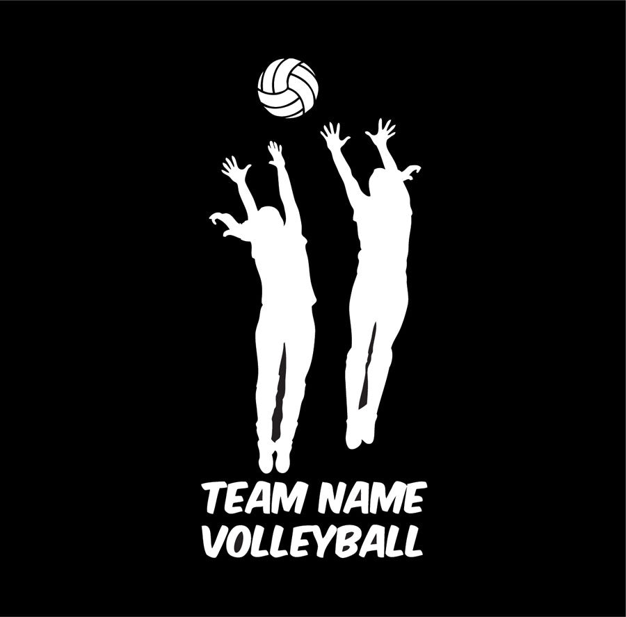 custom volleyball blocker vinyl car decal