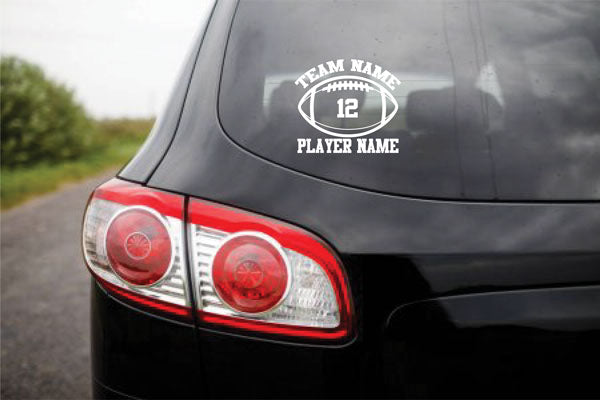 Custom Vinyl Stickers FOOTBALL