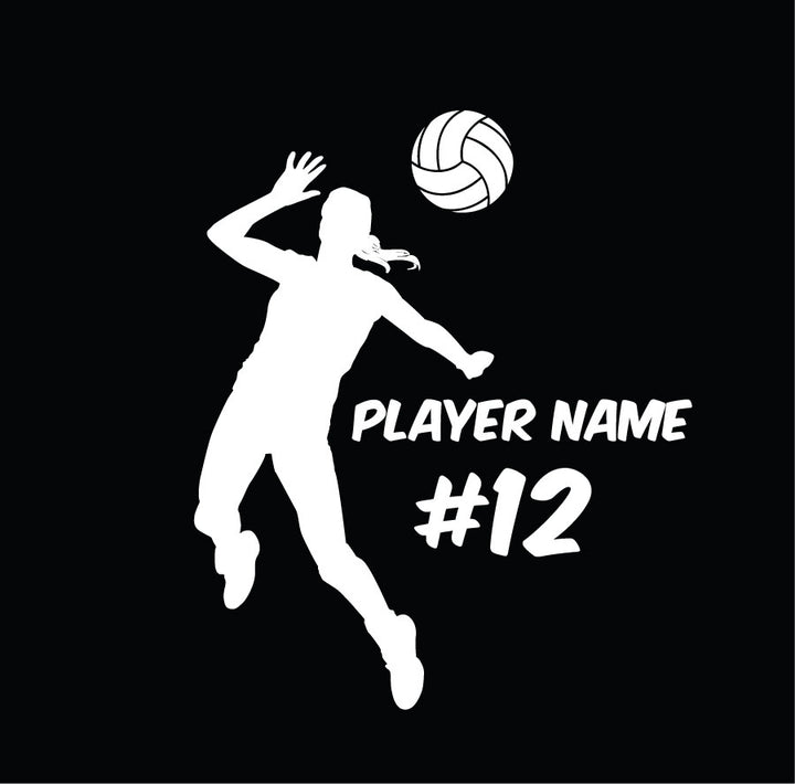 custom hitter volleyball vinyl car decal or sticker