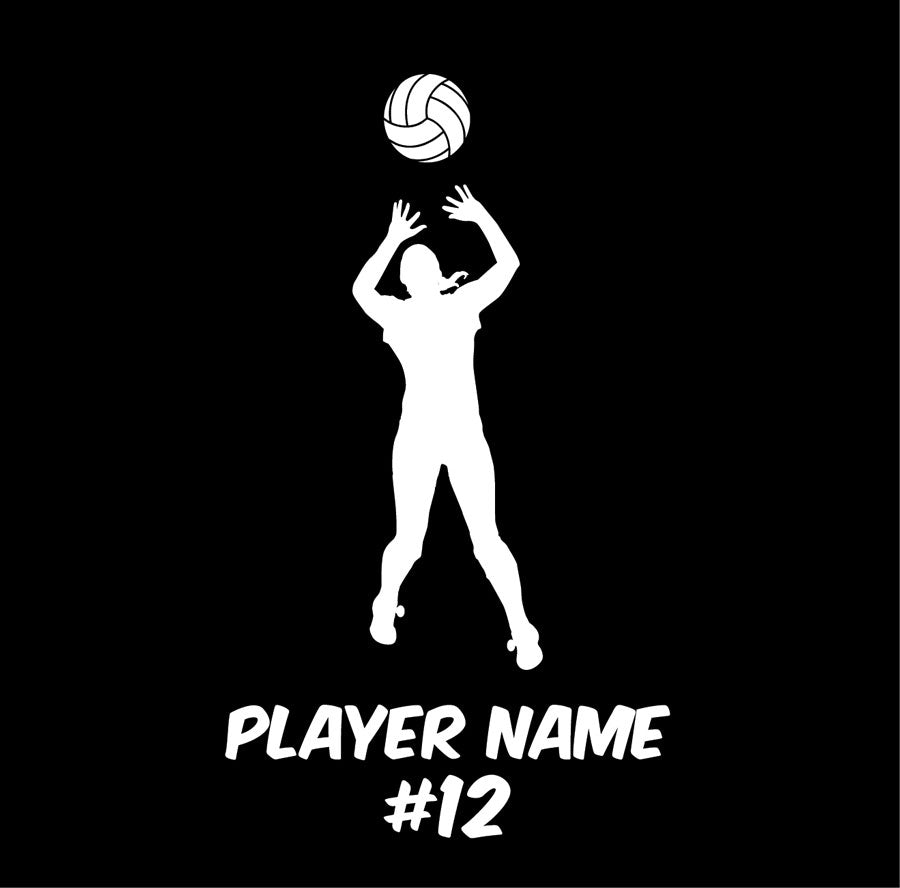 custom setter volleyball car decal or sticker