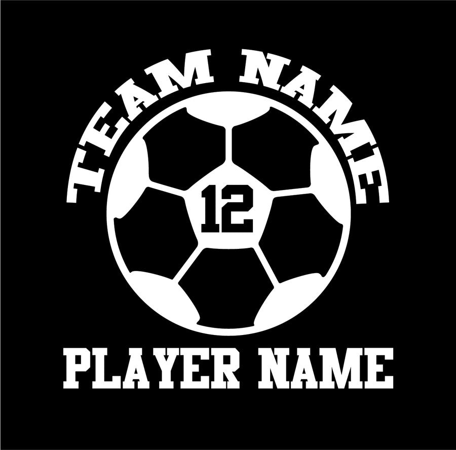 custom soccer vinyl car window decal