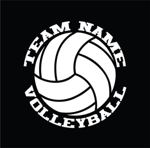 custom volleyball vinyl car decal or sticker