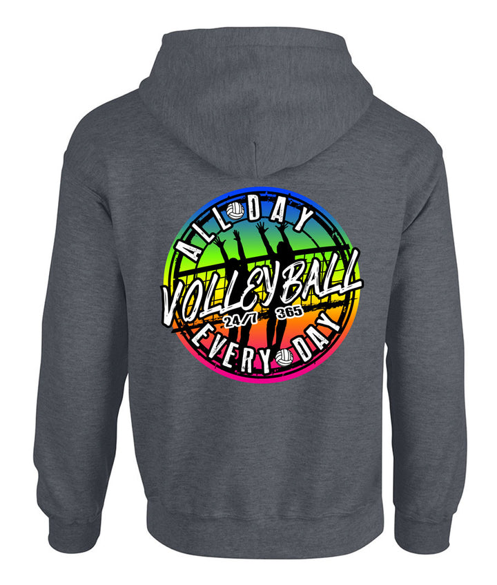 all day every day volleyball hooded sweatshirt