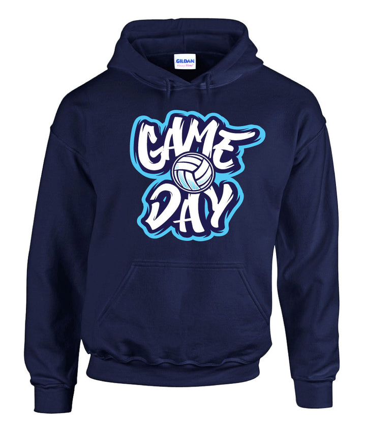 game day volleyball hooded sweatshirt