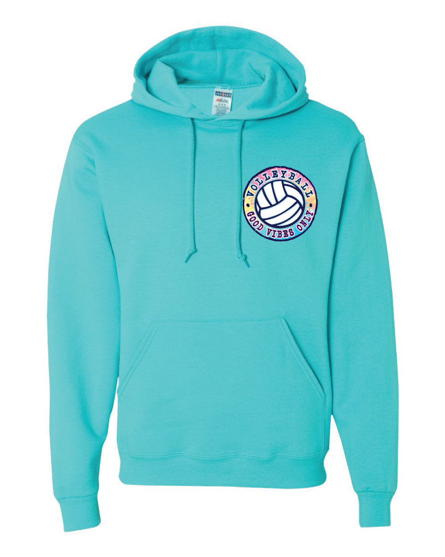 GOOD VIBES ONLY Volleyball Hooded Sweatshirt
