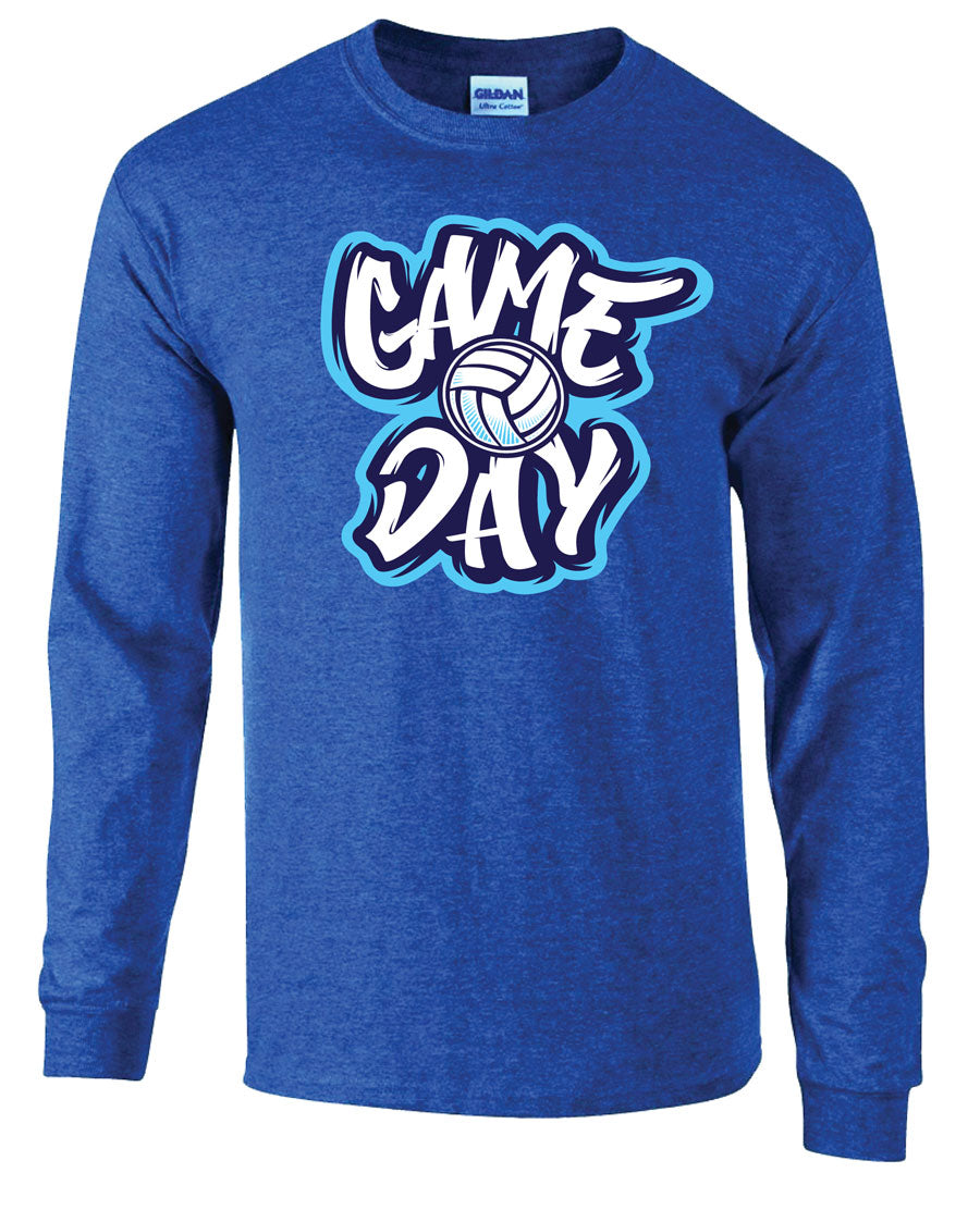 game day volleyball long sleeve shirt