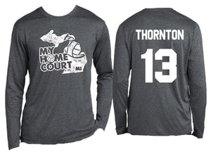 volleyball my home court michigan dry wick long sleeve tee