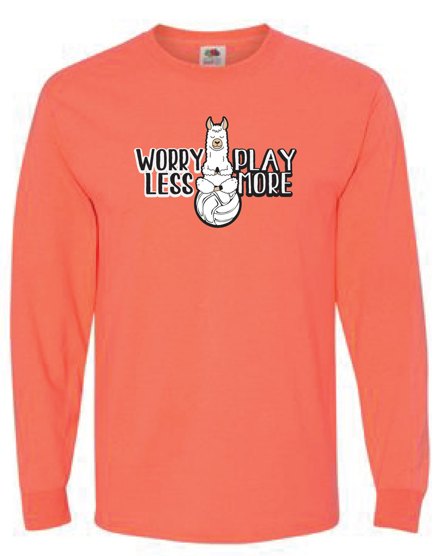Volley Llama Volleyball Long Sleeve Shirt