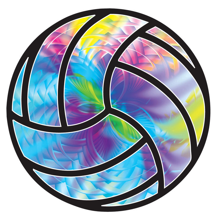tie dye volleyball magnet