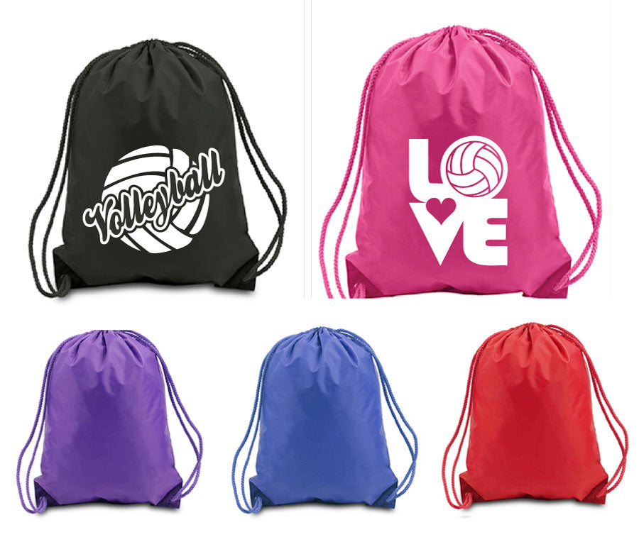 assorted Volleyball drawstring sports packs