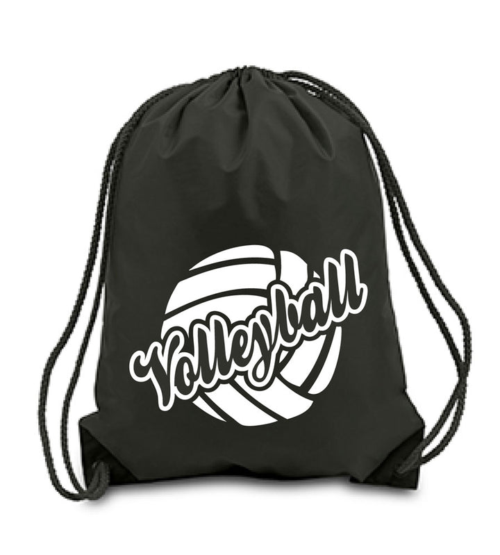 Volleyball sling pack in black