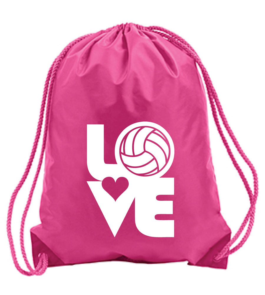 LOVE Volleyball sling pack in pink