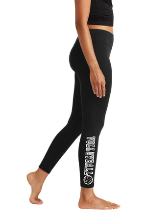 Volleyball Performance Poly Spandex Leggings